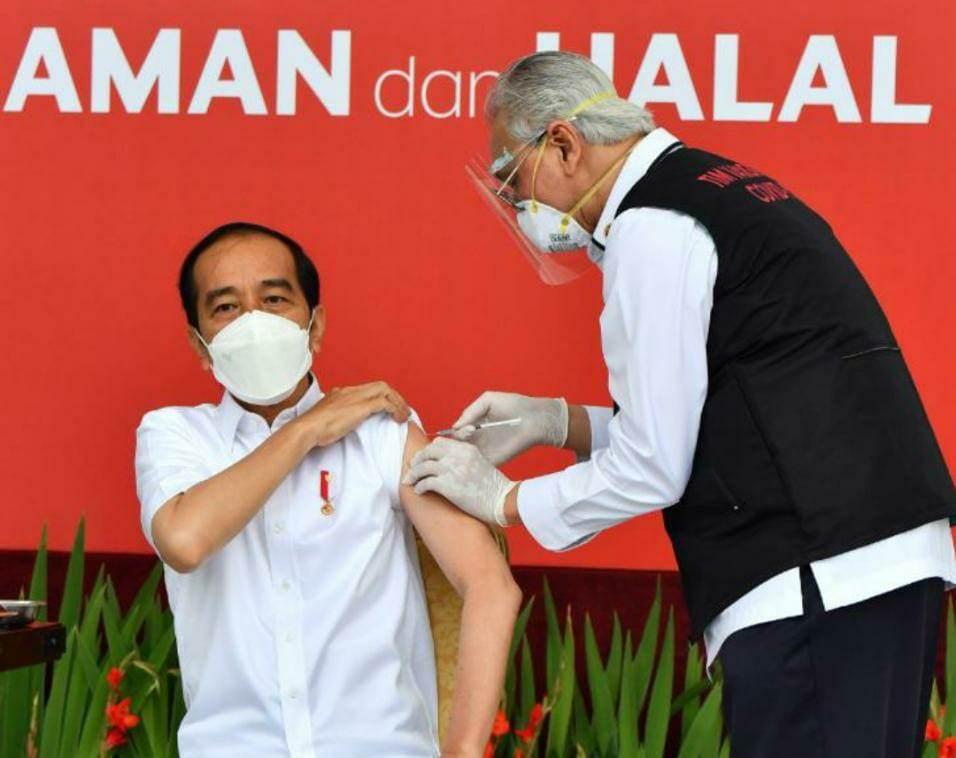 Presiden Joko Widodo disuntik vaksin covid-19/Istimewa.