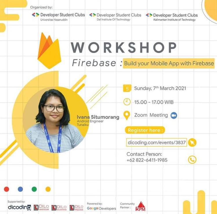 Mau Membangun Aplikasi Berkualitas dengan Firebase? Yuk, Ikuti Workshop Ini