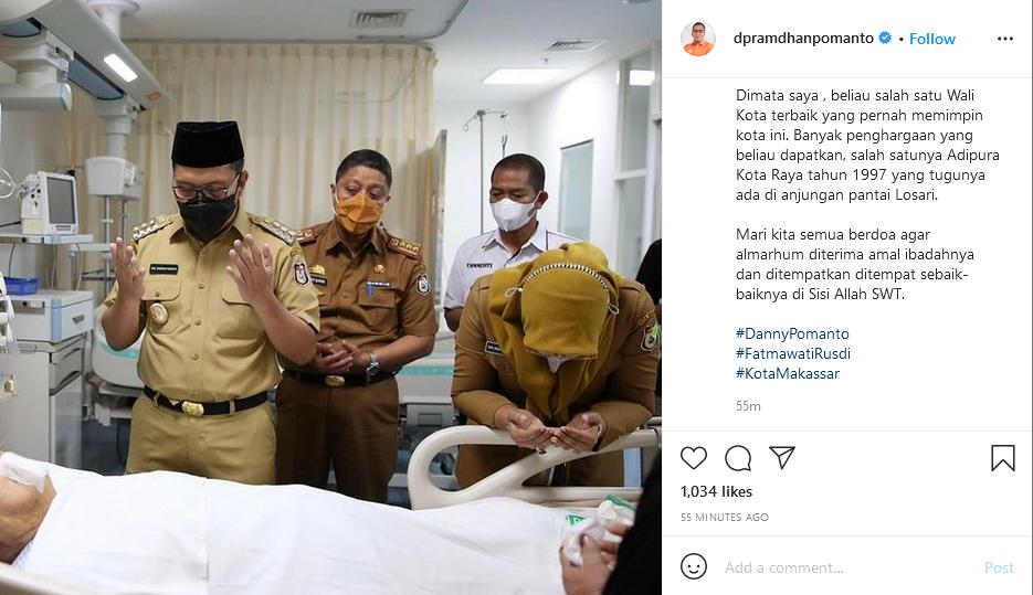 Kabar Duka, Eks Walkot Makassar Malik B Masri Meninggal