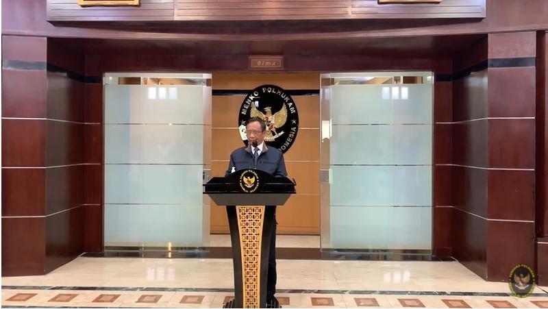Menteri Koordinator Bidang Politik, Hukum, dan Keamanan (Menko Polhukam) Mahfud MD. Medcom.id