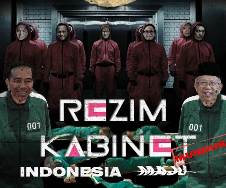Viral! Poster Squid Game dengan Wajah Jokowi